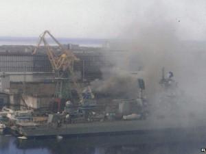 Thế giới - Tàu ngầm hạt nhân Nga bốc cháy tại xưởng sửa chữa