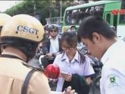 Video An ninh - Sẽ hạ hạnh kiểm học sinh không đội mũ bảo hiểm