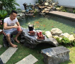 Hồ cá đắt đỏ, sang chảnh của Cao Thái Sơn