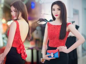 Váy - Đầm - Hoa hậu Kỳ Duyên khoe lưng trần quyến rũ