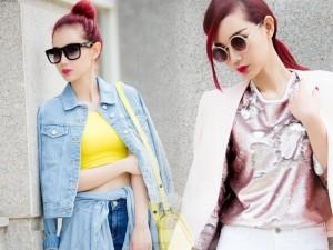 """Thời trang bốn mùa - Cựu hot girl Quỳnh Chi """"gây mê"""" khi xuống phố"""