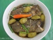 Ẩm thực - Đậm đà hương vị cá rô đồng kho trái cóc