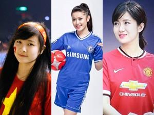 """Bạn trẻ - Cuộc sống - 3 cô gái Việt làm fan bóng đá """"chao đảo"""""""