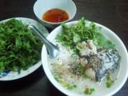 Ẩm thực - Cháo rau đắng kèm cá lóc đồng