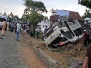 Tin tức trong ngày - Lâm Đồng: Hai xe khách tông nhau trực diện: 14 người cấp cứu
