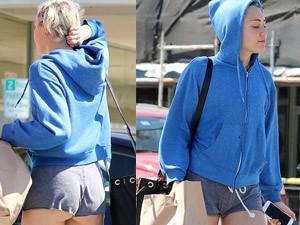 Thời trang - Miley Cyrus mặc quần 5cm hớ hênh trên phố