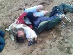 Tin tức trong ngày - Hai thanh niên trộm chó bị trói nằm cạnh chó