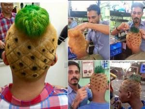 Bạn trẻ - Cuộc sống - Đăng ảnh câu like, chàng trai phải cắt tóc quả dứa
