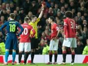 """Bóng đá Ngoại hạng Anh - MU """"đổi đời"""" sau chiếc thẻ đỏ của Di Maria"""
