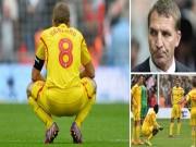 """Bóng đá Ngoại hạng Anh - Liverpool gây thất vọng, CĐV đòi """"đuổi cổ"""" Rodgers"""