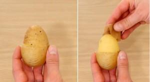 Ẩm thực - Clip: Mẹo gọt và bóc khoai tây cực nhanh