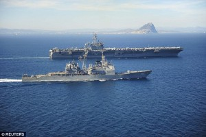 Mỹ điều siêu chiến hạm chặn Iran cấp vũ khí cho Yemen