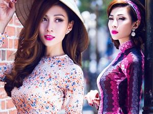 Người mẫu - Hoa hậu - Mẫu chuyển giới Lan Phương mặc áo dài khoe đường cong