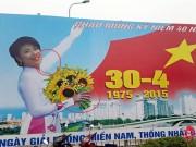 """Tin tức Việt Nam - Hà Nội chào mừng ngày 30/4 bằng pano...""""kì dị"""""""