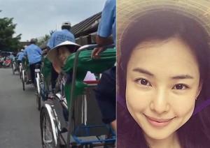 Phim - Mỹ nhân Hàn bất ngờ khoe clip đi xích lô tại Hội An