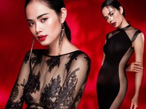 Người mẫu - Hoa hậu - Thu Hiền đẹp ngây ngất với váy ren xuyên thấu