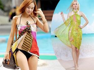 Thời trang - 6 cách quấn khăn sarong quyến rũ đi biển