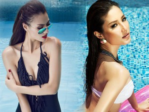 """Người mẫu - Hoa hậu - Kiều nữ Việt mặc bikini """"thiêu đốt"""" bể bơi"""