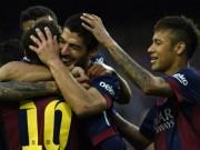 """Bóng đá Tây Ban Nha - Barca thắng đậm, Suarez lại mơ """"hủy diệt"""" Bayern"""