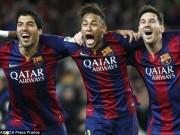 Bóng đá - Messi, Suarez, Neymar: 17 bàn để vượt tam tấu Real