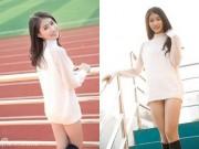 8X + 9X - Cô gái 14 tuổi ăn mặc táo bạo tạo dáng trong sân trường