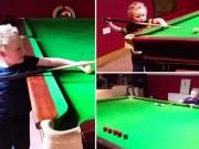 """Billard - Snooker - Bé 3 tuổi trổ tài bi-a """"bách phát bách trúng"""""""