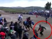 Thể thao - Sốc: Chạy vào đường đua CĐV bị ngựa giẫm chết