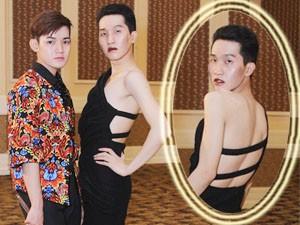 Thời trang - Mẫu nam uốn éo với váy hở lưng