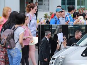 Katy Perry đánh lạc hướng fan ở sân bay Tân Sơn Nhất