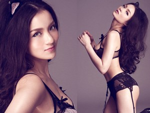 Sao ngoại-sao nội - Thủy Top tung ảnh mặc nội y hóa miêu nữ sexy