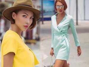 Thời trang bốn mùa - Minh Triệu tung tăng váy ngắn, dép lê xuống phố