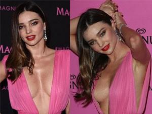 Thời trang - Miranda Kerr siêu gợi cảm với đầm xẻ ngực sâu hoắm