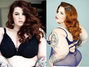 Làm đẹp - Vẻ đẹp gợi cảm của người mẫu béo nhất thế giới