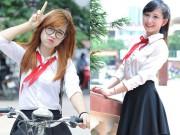 8X + 9X - Nữ sinh Phương Đông đeo khăn quàng đỏ trở lại thời học sinh