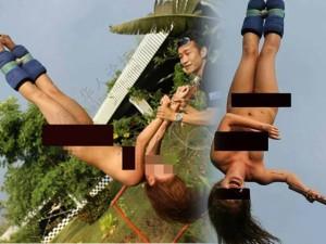 Người mẫu - Hoa hậu - Người mẫu Hong Kong gây sốc vì khỏa thân nhảy bungee