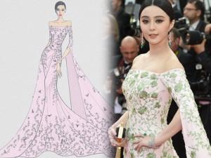 """Váy - Đầm - Váy của Phạm Băng Băng ở Cannes """"ngốn"""" 3 tỷ đồng"""