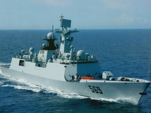 """Thế giới - Căng thẳng với Mỹ, TQ """"khoe"""" tàu hộ vệ tàng hình"""