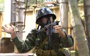 Tin tức trong ngày - Xem bộ đội phòng hóa diễn tập chống khủng bố