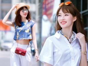Người mẫu - Hoa hậu - Hoa hậu Thu Thảo khoe eo thon xuống phố