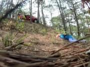 Tai nạn giao thông - Camera giấu kín: Ôtô đâm vào gốc cây giữa đèo cao