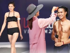 """Người mẫu - Hoa hậu - """"Dở khóc, dở cười"""" xem thí sinh Next Top thi hình thể"""