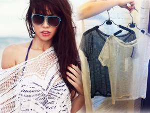 Thời trang - Sắm áo lưới ngoài bikini đẹp như Hà Anh chỉ 150 ngàn