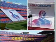"""Bóng đá - Barca """"mở hội"""" nhận cúp, tri ân Xavi"""