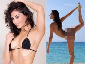 Người mẫu - Hoa hậu - Người mẫu Anh chụp ảnh tập yoga gây sốc