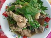 Ẩm thực - Ngon mê món thịt gà che xào lá cách quê nhà