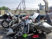 Camera hành trình - Tai nạn 5 người chết: Kiểm tra sức khỏe tài xế container