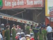 Video An ninh - Nổ khí gas liên tiếp ở quán cơm, hai người bỏng nặng