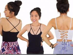4 cách mặc đẹp từ chiếc áo hai dây rẻ tiền