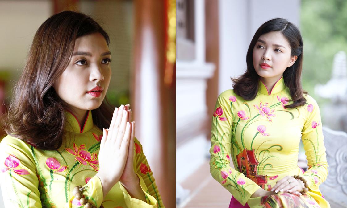 Hoa khôi sinh viên nổi bật trong ngày lễ Phật Đản