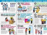 SEA Games 28 - Những điểm cần lưu ý khi tham dự lễ khai mạc và bế mạc SEA Games